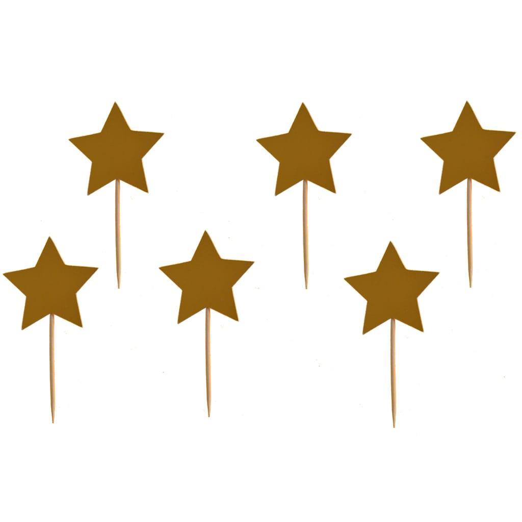 Toppers Estrelas Douradas, 6 unid.