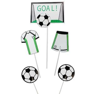 Toppers Figuras Futebol, 5 unid.