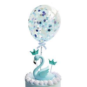 Toppers Mini Balões com Confetis Azuis, 2 unid.