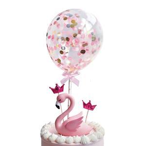 Toppers Mini Balões com Rosa, 2 unid.