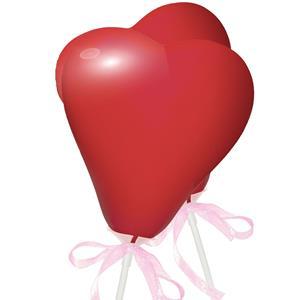 Toppers Mini Balões Corações Vermelhos, 2 unid.