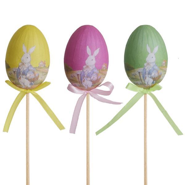 Toppers Ovos da Páscoa com Desenhos, 3 unid.