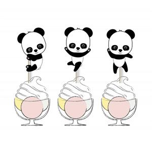 Toppers para Bolos Bebé Panda