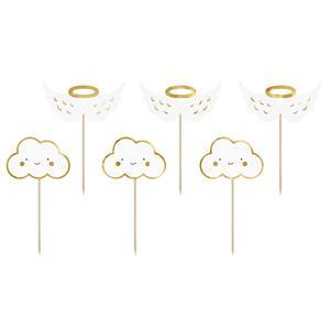 Toppers para Bolos Nuvens e Asas, 6 unid.