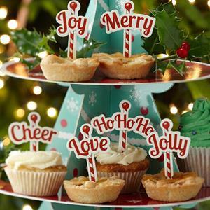 Toppers para Cupcakes Natalícios, 12 unid.