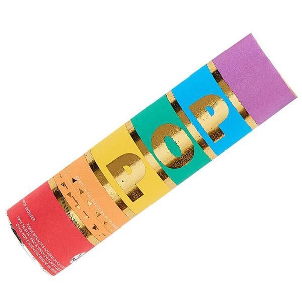 Tubo Lança Confetis Arco-íris