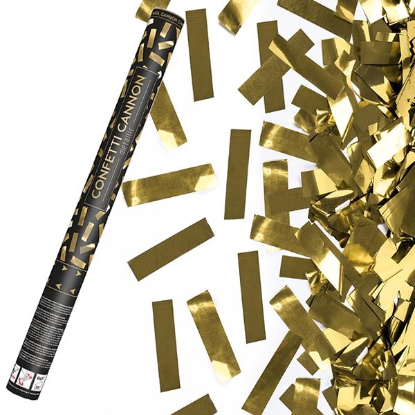 Tubo Lança Confetis Metalizado, 60 cm