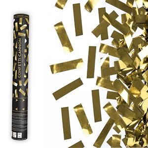 Tubo Lança Confetis Metalizado, 40 Cm
