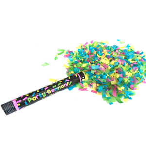 Tubo Lança Confetis Fluorescentes 40 Cm