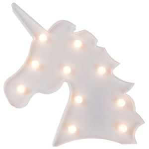 Unicórnio Branco Decorativo com Luz