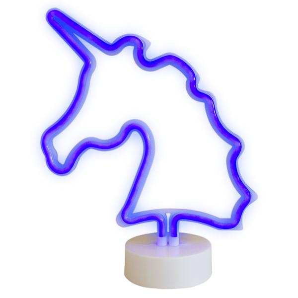 Unicórnio Decorativo com Luz Roxa, 29 cm