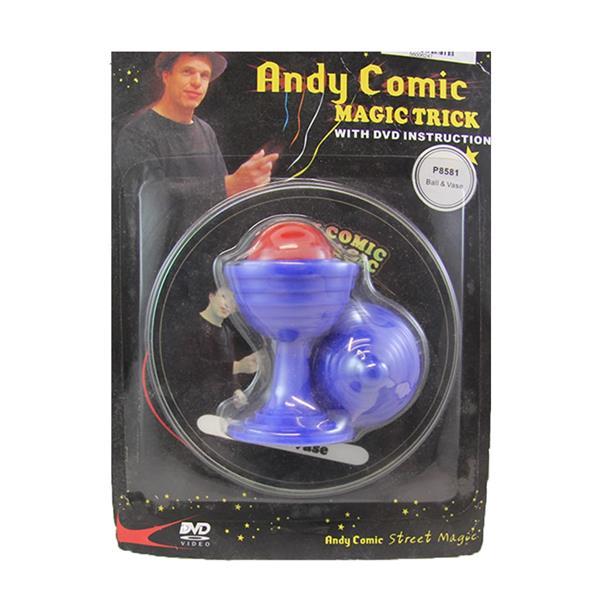Vaso e Bola com DVD Andy Comic