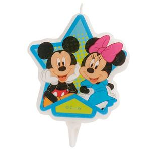 Vela 2D Mickey e Minnie, 8 cm