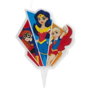 Vela 2D Super Heroínas, 7 cm