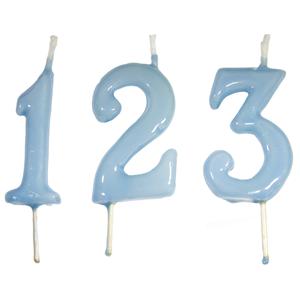 Vela Aniversário Azul Claro, 6cm