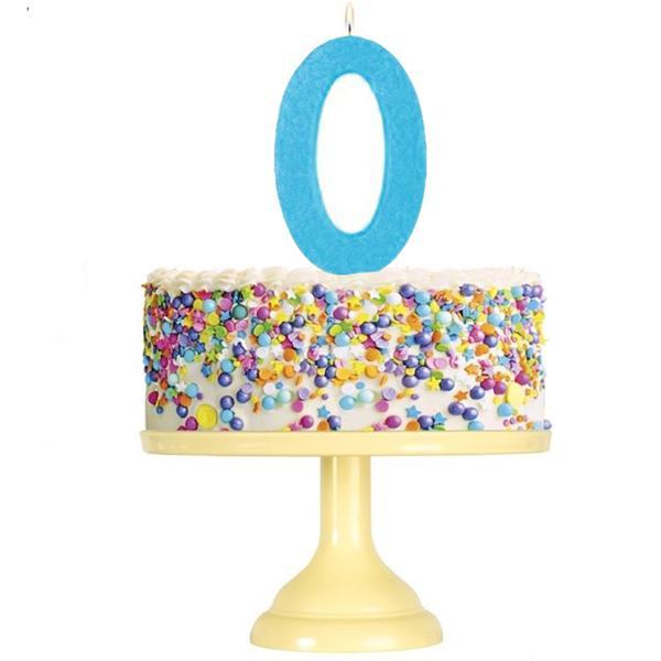 Vela Aniversário Glitter Azul, 12 cm