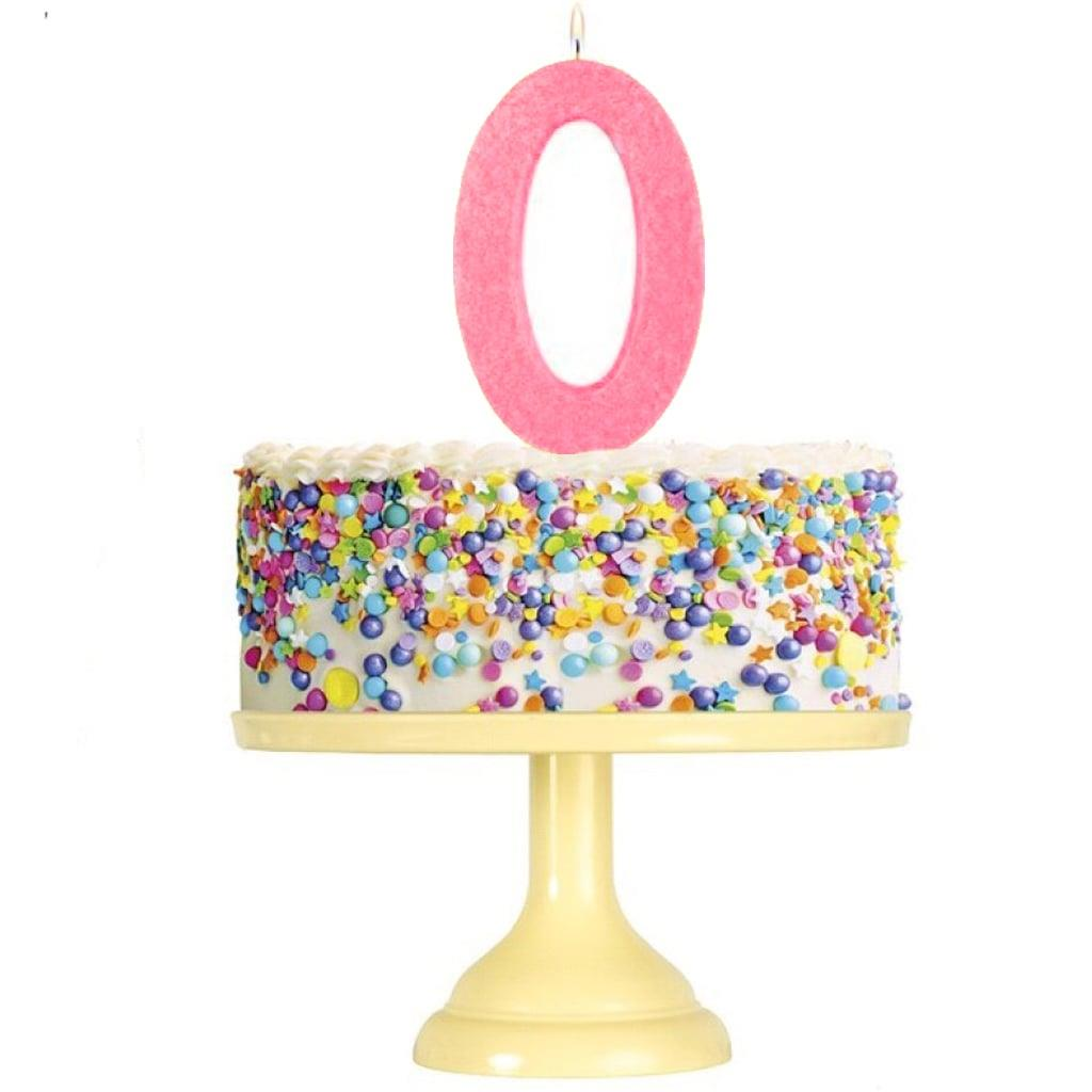 Vela Aniversário Glitter Rosa Claro, 12 cm