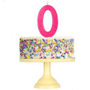 Vela Aniversário Glitter Rosa Fushia, 12 cm