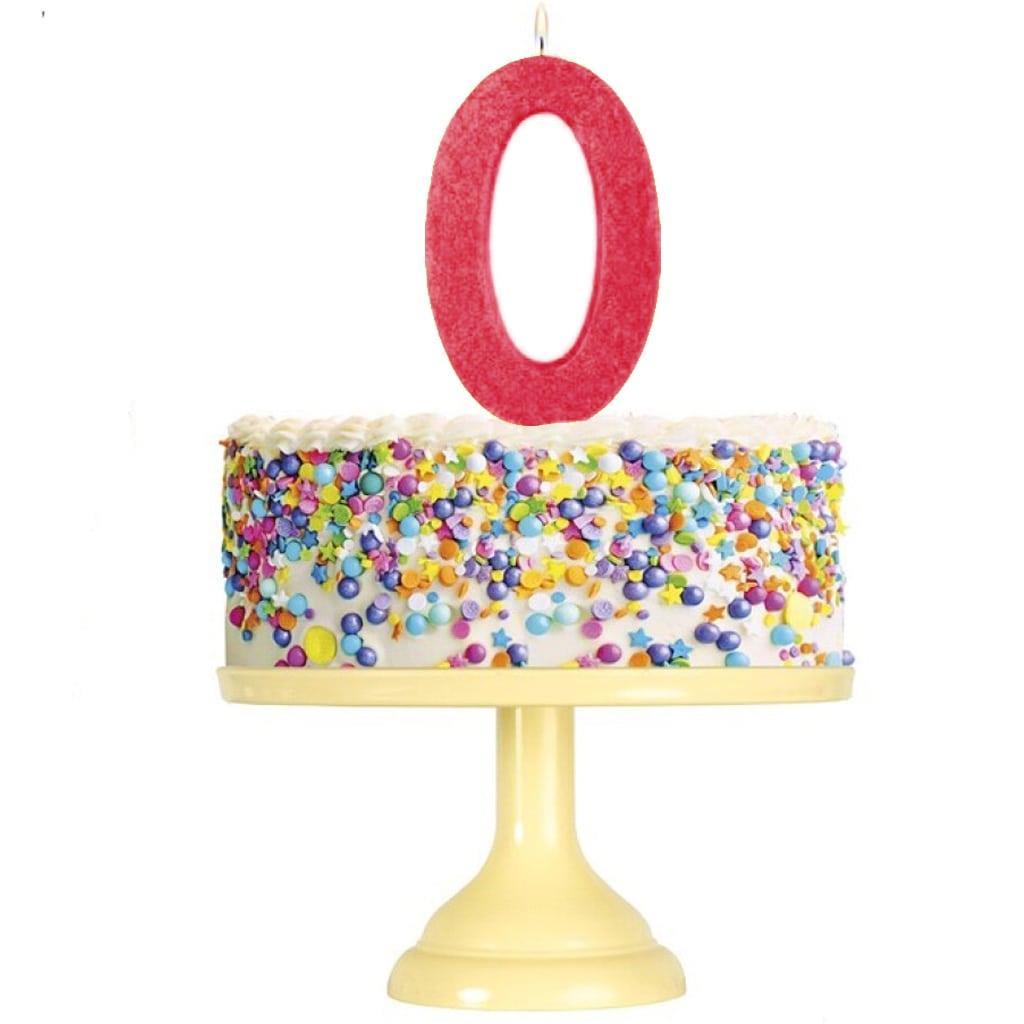 Vela Aniversário Glitter Vermelho, 12 cm