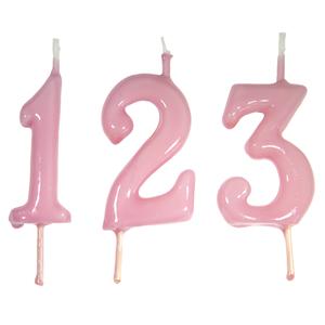 Vela Aniversário Rosa Claro, 6cm