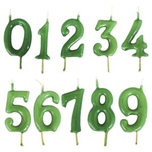 Vela Aniversário Verde, 6cm
