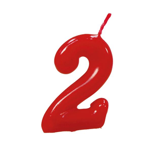 Vela Aniversário Vermelha