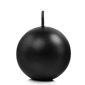 Vela Esfera Preta, 6 cm