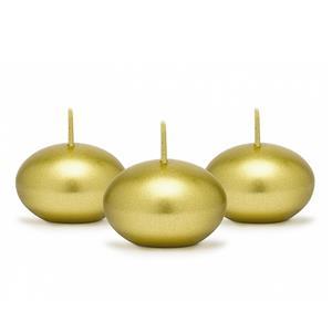 Vela Flutuante Dourada, 4 cm