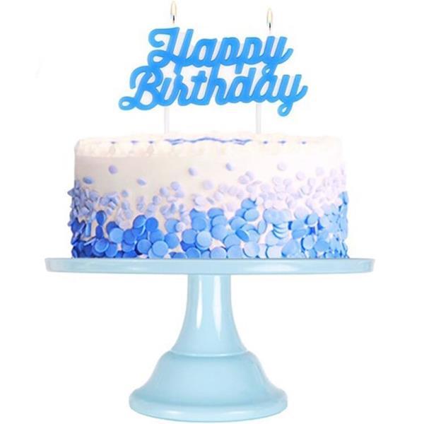 Vela Happy Birthday Azul