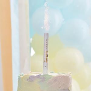 Vela Sparkle com Música Happy Birthday