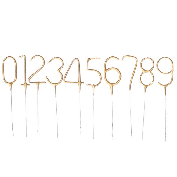 Vela Sparkle Números