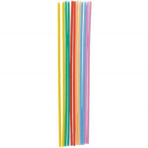 Velas Altas e Finas Multicolor, 12 unid.