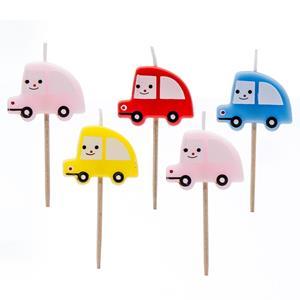 Velas Carros Multicolor, 5 unid.