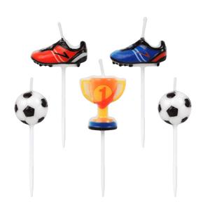Velas Figuras Futebol, 5 Unid.
