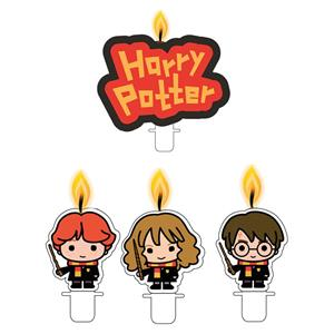 Velas Harry Potter Chibi, 4 unid.