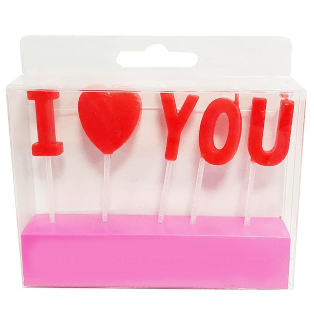 Velas I Love You Vermelhas