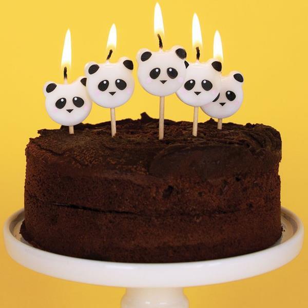 Velas Panda Amoroso, 8 unid.