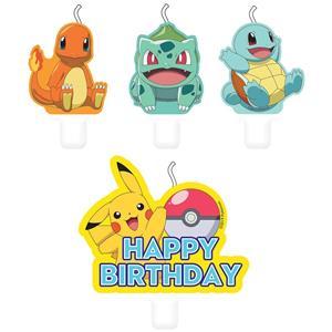 Velas Pokémon, 4 unid.