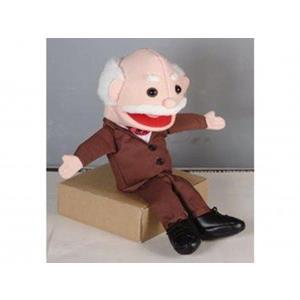 Velho Ventroloquia-Puppet  34 Cm