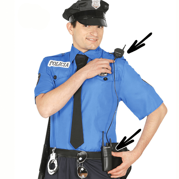 Walkie Talkie de Polícia em Plástico