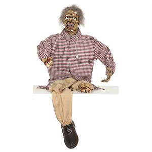Zombie Mutilado com Luz, Movimento e Som, 160 cm