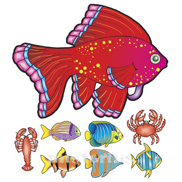 Animais Marinhos Decorativos, 8 un