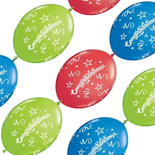 Balão Banner 10 und  Congratulations