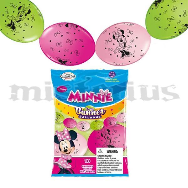 Balão Banner Minnie, 10 unid.