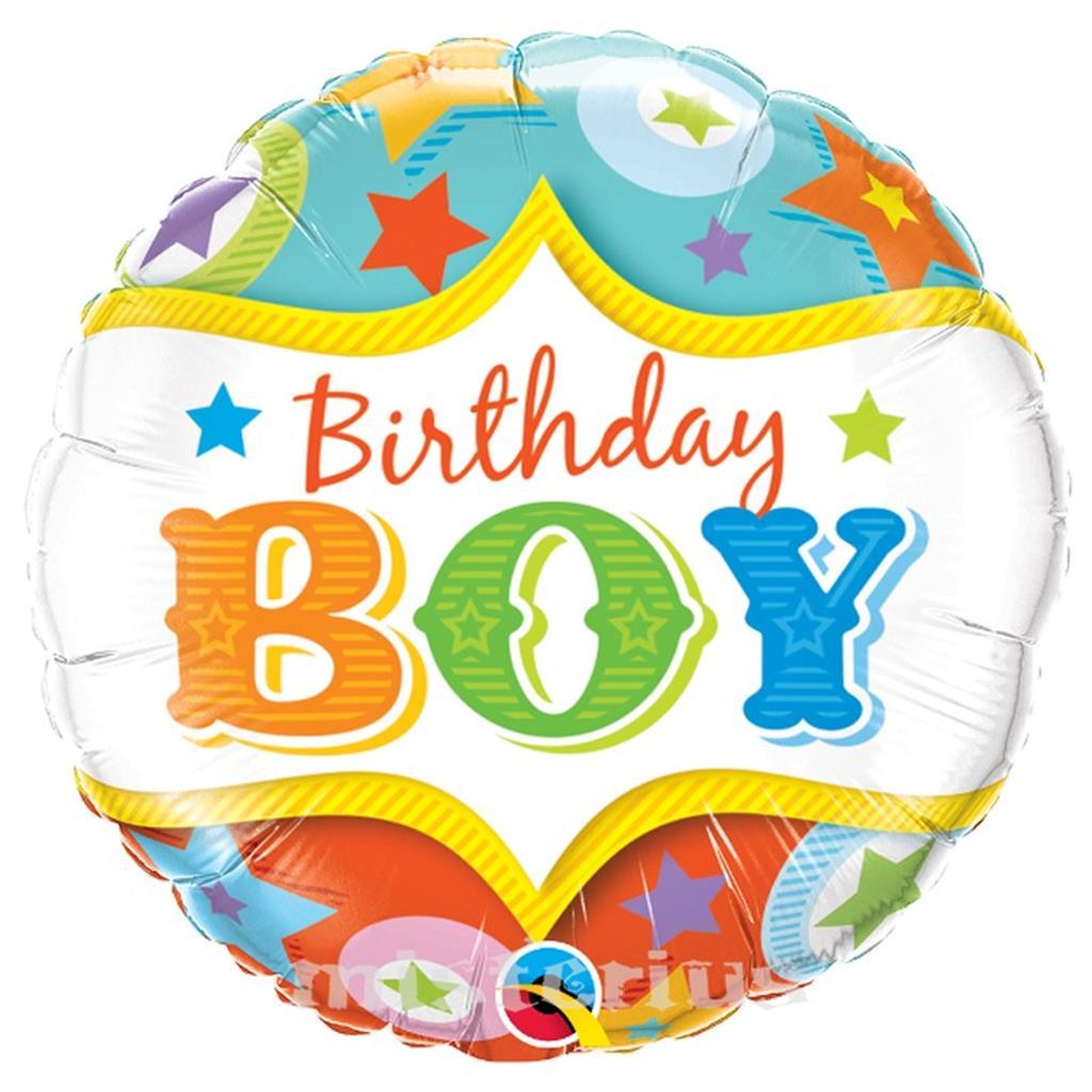 Balão Birthday Boy, 46 cm