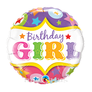 Balão Birthday Girl foil 46cm