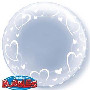 Balão Bubble Corações Stylish
