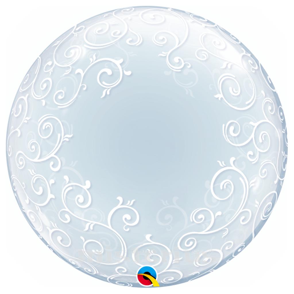 Balao Bubble Filigrana 61 cm
