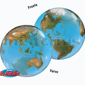 Balão Bubble Planeta Terra 56cm