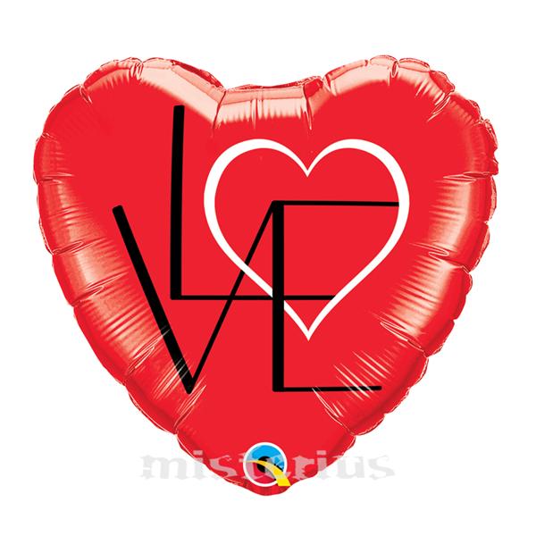 Balão Coração LOVE 46cm